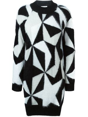 VIONNET intarsia jumper dress