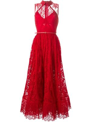 ELIE SAAB flared lace gown