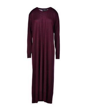 深紫 SALVATORE FERRAGAMO 中长款连衣裙