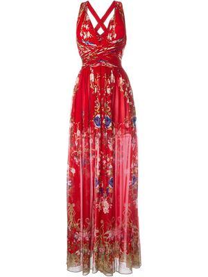 ROBERTO CAVALLI floral print long dress