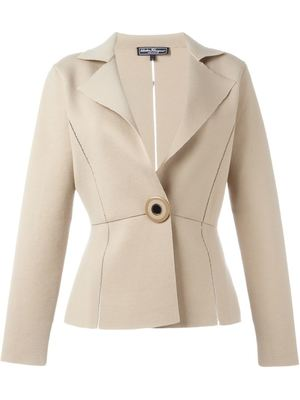 SALVATORE FERRAGAMO one button blazer