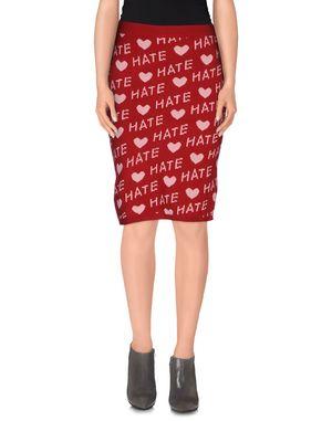红色 KLING 及膝半裙
