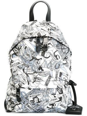 MOSCHINO shopping bag print backpack