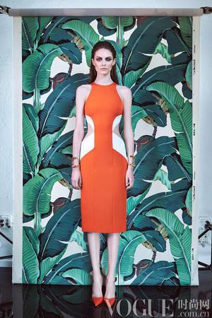 腰侧镂空裙装 2015早春度假系列
