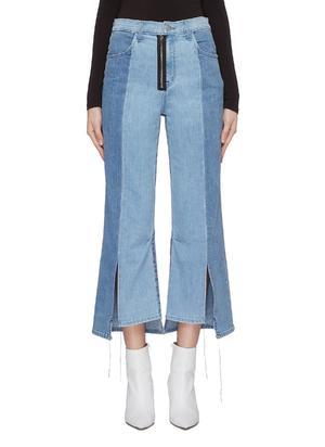 X KOZABURO PENNYLANE拼接设计高腰阔腿牛仔裤