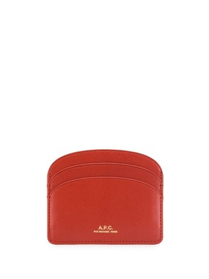 A.P.C. half moon card holder - Red