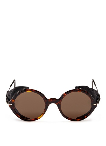 Blinker side piece tortoise sunglasses