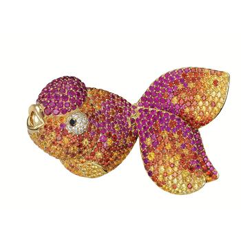 Qeelin麒麟珠宝彩色钻石金鱼
