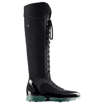 Chanel香奈儿2014春夏黑色长靴
