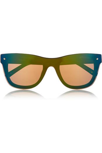 D 形框板材反光太阳镜