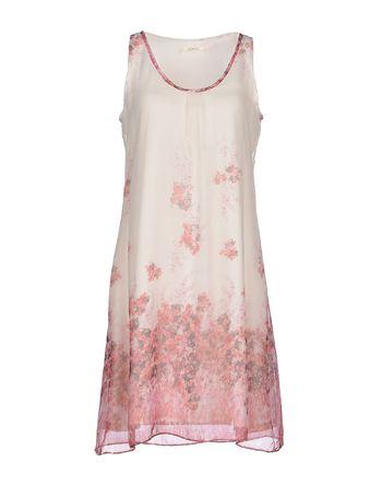 粉红色 POEMS 短款连衣裙