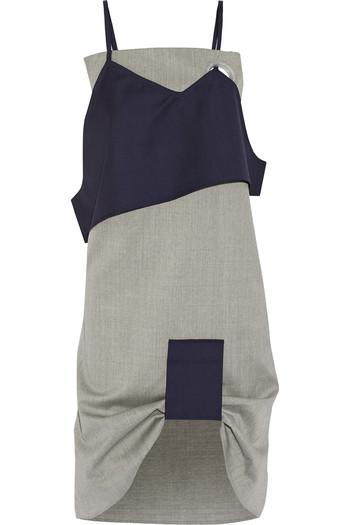 分层式羊毛连衣裙