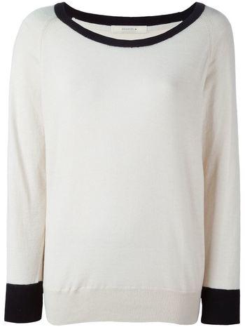 SESSUN contrasting trim sweater