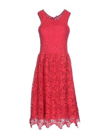 玫红色 SCEE BY TWIN-SET 及膝连衣裙