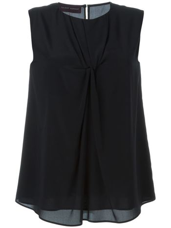 TALBOT RUNHOF sleeveless knot blouse