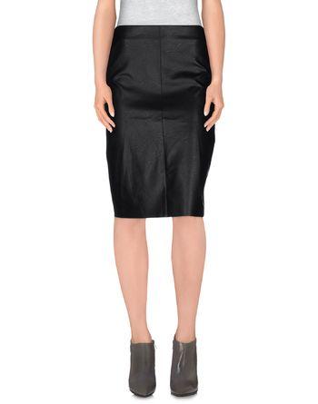 黑色 NUDE 及膝半裙
