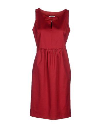 砖红 MOSCHINO CHEAPANDCHIC 及膝连衣裙