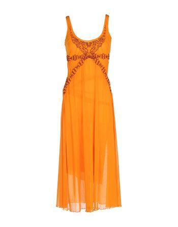 橙色 JEAN PAUL GAULTIER SOLEIL 中长款连衣裙