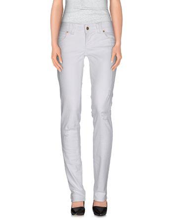 白色 GALLIANO 牛仔裤