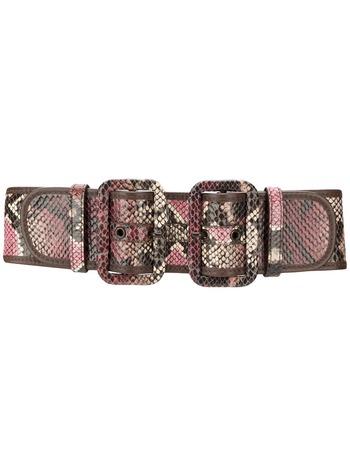 Zimmermann python skin effect belt - Pink