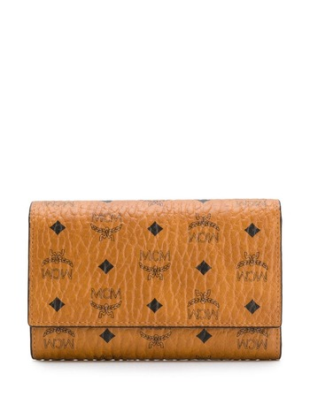 MCM logo wallet - Brown