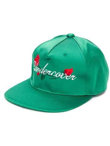 UNDERCOVER embroidered logo baseball cap - Green