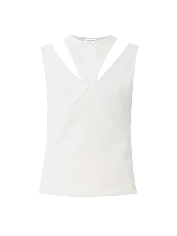 Cut-out crepe top