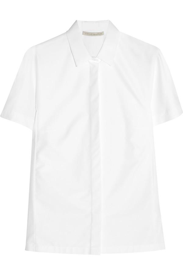 棉质混纺斜纹布衬衫