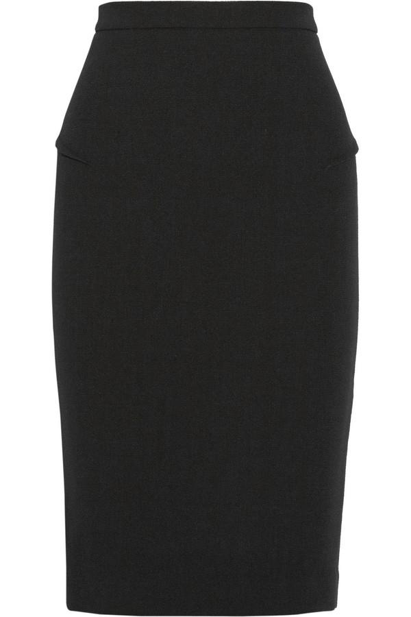 Sitona 羊毛绉纱铅笔半身裙
