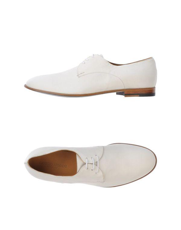 象牙白 GIORGIO ARMANI 系带鞋