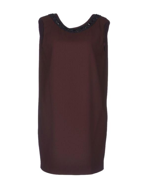 巧克力色 SEMI-COUTURE 短款连衣裙