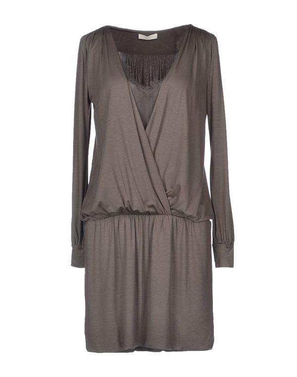 灰色 SCERVINO STREET 短款连衣裙