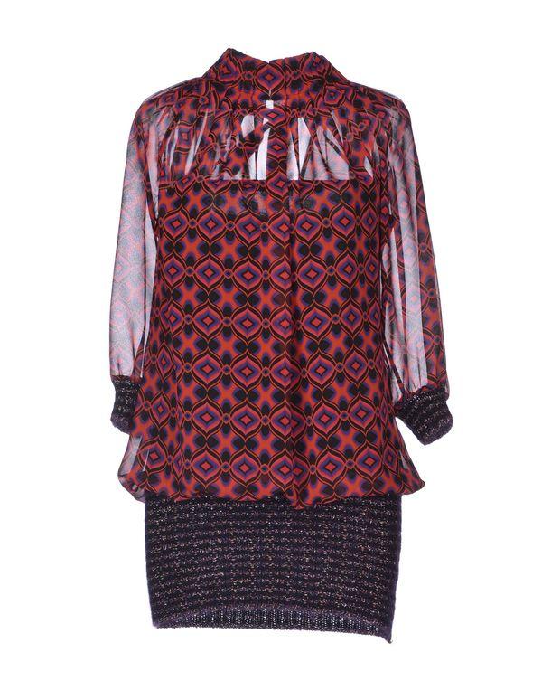 铁锈红 ANNARITA N. 短款连衣裙