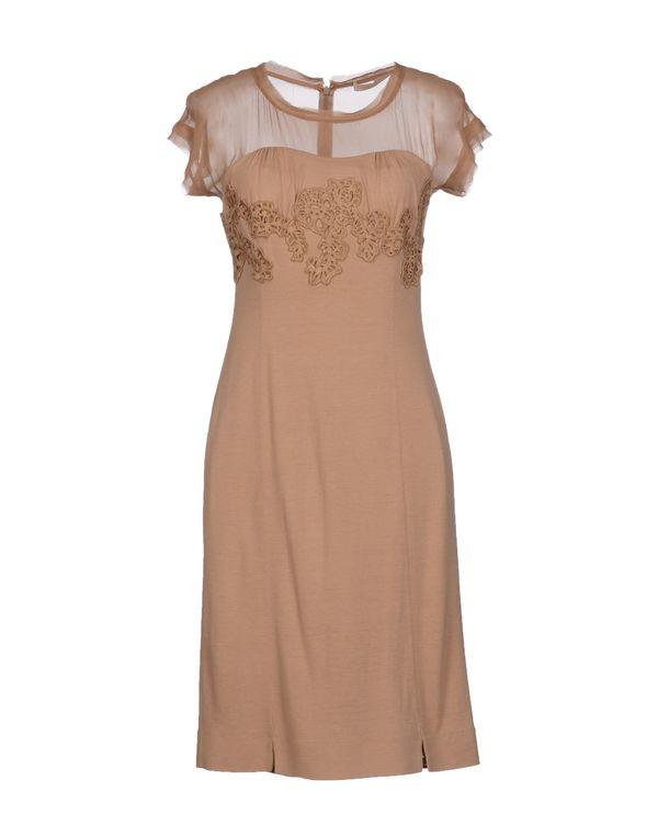 驼色 SCERVINO STREET 短款连衣裙