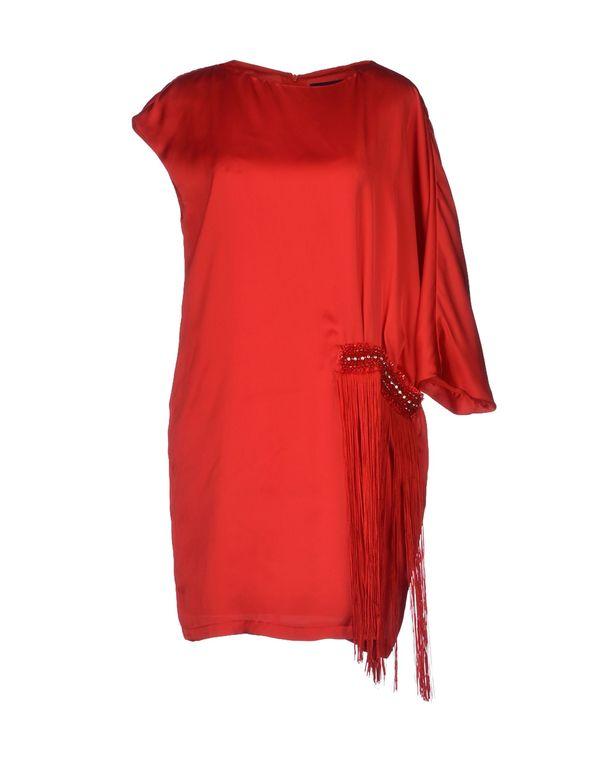 红色 CLASS ROBERTO CAVALLI 短款连衣裙