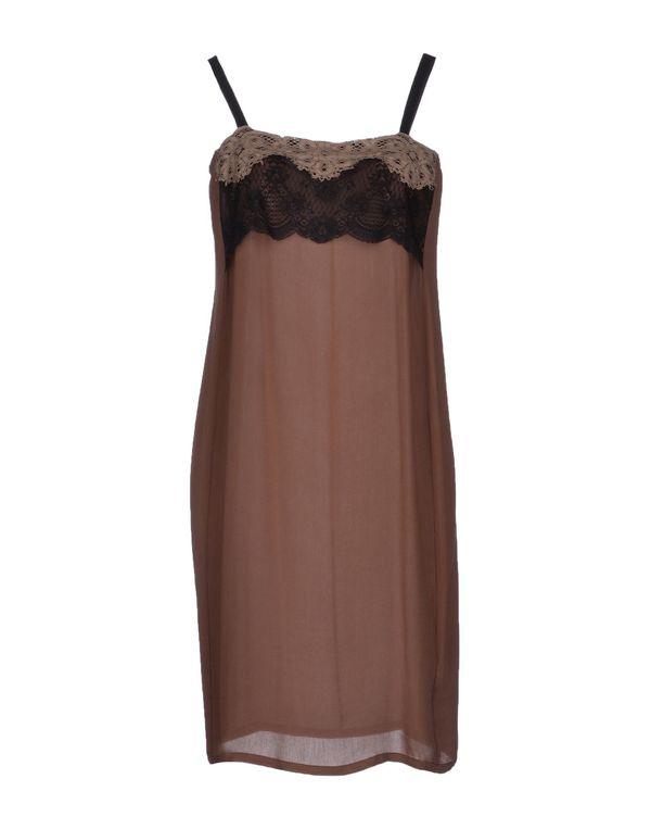 浅棕色 ...À_LA_FOIS... 短款连衣裙