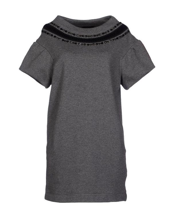 灰色 PINKO BLACK 短款连衣裙