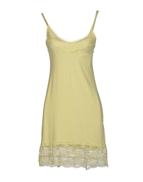 浅黄色 SO ALLURE 短款连衣裙