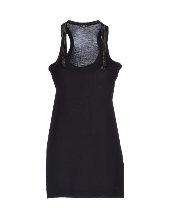 黑色 FRED PERRY 短款连衣裙
