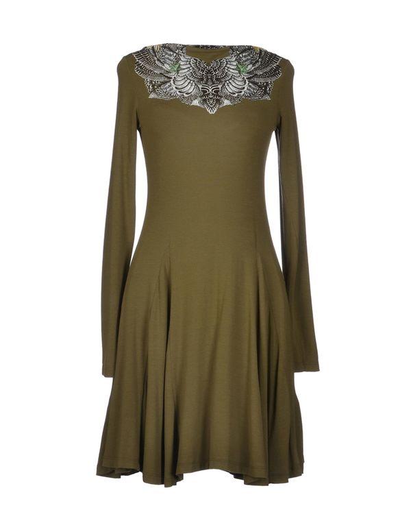 军绿色 JUST CAVALLI 短款连衣裙