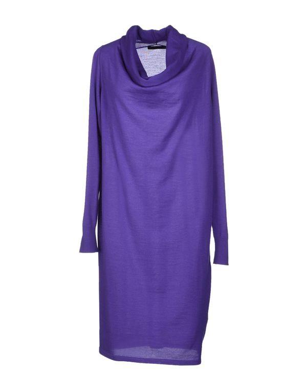 紫色 LES COPAINS 及膝连衣裙