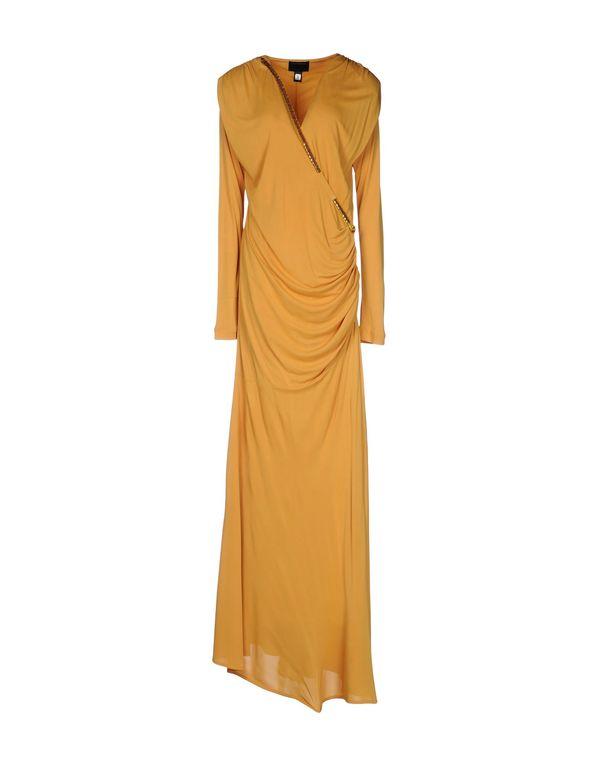 赭石色 CLASS ROBERTO CAVALLI 及膝连衣裙