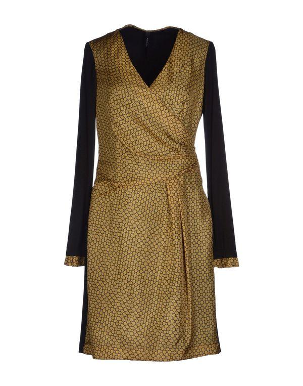 赭石色 PIANURASTUDIO 短款连衣裙