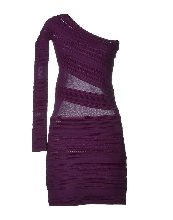 紫红 ROBERTO CAVALLI 短款连衣裙