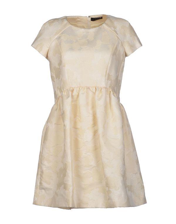 象牙白 GILES 短款连衣裙