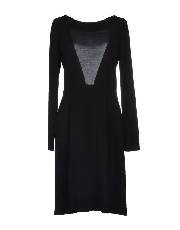 黑色 TARA JARMON 及膝连衣裙