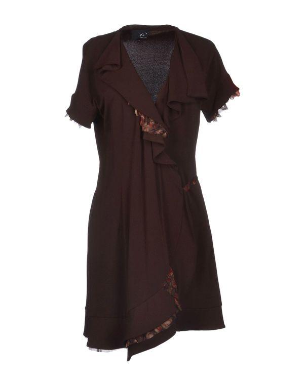 深紫 JUST CAVALLI 短款连衣裙