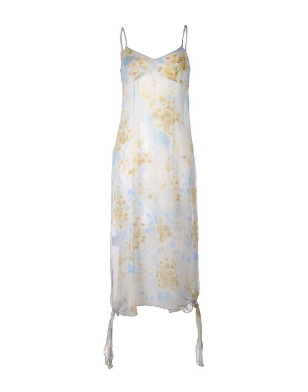 象牙白 LIU •JO 中长款连衣裙
