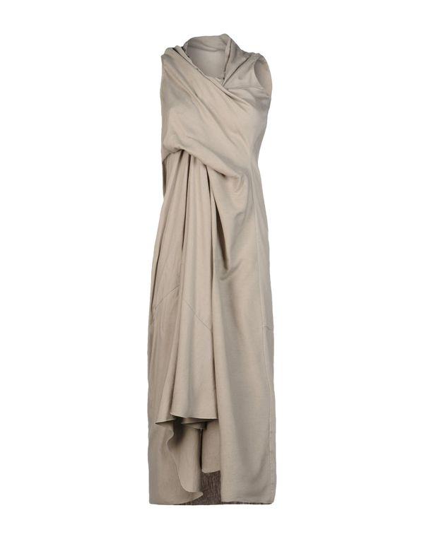 淡灰色 RICK OWENS 短款连衣裙