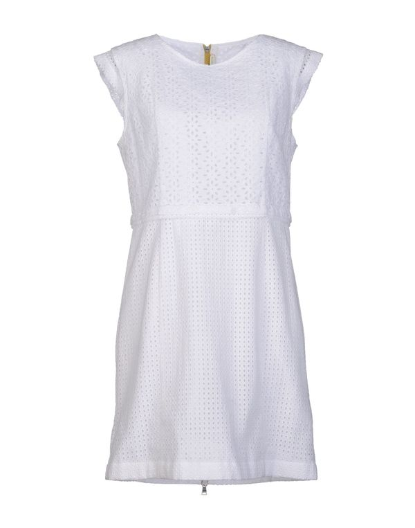 白色 M.GRIFONI DENIM 短款连衣裙